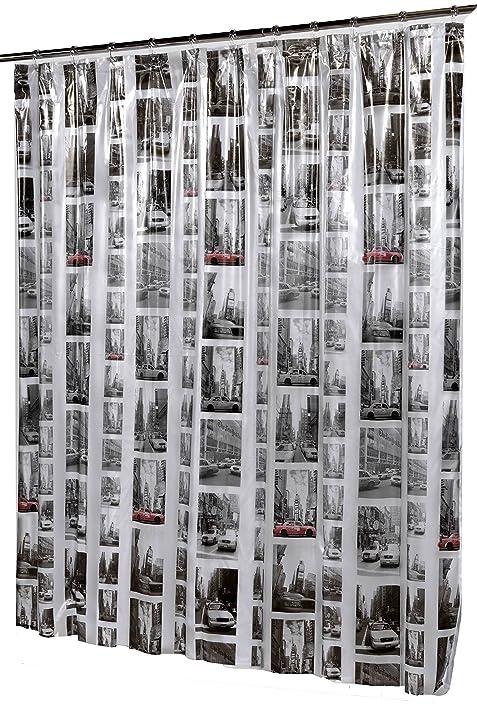 Royal Bath 5 Gauge Vinyl Print Shower Curtain Liner (72u0026quot; X 72u0026quot;)