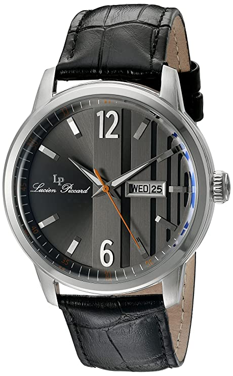 Amazon.com: Lucien Piccard Milanese Date Day Mens Watch 40027-01: Watches