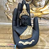 Global Grabbers Palm Buddha Idol Statue Showpiece for Home Decoration
