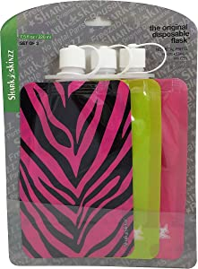 Shark Skinz Disposable Flasks, 3-Pack, Female Designs