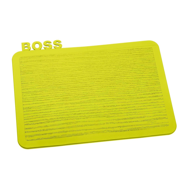 Bianco 18.899999999999999 x 24.7 x 0.5 cm koziol fruehstuecksbrettchen Happy Board Boss 18,9/x 24,7/x 0,5/cm Bianco Plastica