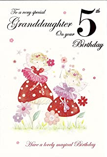 To A Very Special Granddaughter 5th Birthday Card