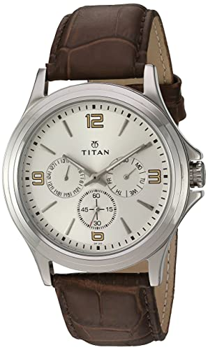 Titan Men s Contemporary Chronograph Multi Function Work Wear,Quartz,Analog, Water Resistant Wrist Watch