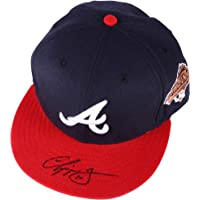 $159 » Chipper Jones Atlanta Braves Autographed Cap - Autographed Hats