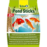 Tetra Pond Sticks, Complete Food for All Pond Fish for Health, Vitality and Clear Water, 25 Litre