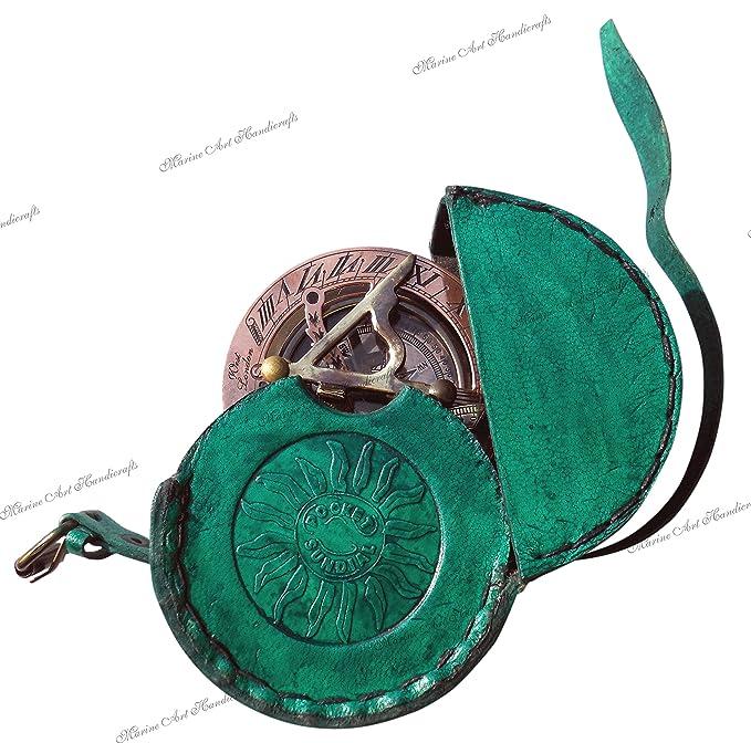 Reloj de Bolsillo - latón spooff solarímetro - Brass Compass antigüedades oeste de Londres. Regalo hermoso artículo. C-3058-A: Amazon.es: Deportes y aire ...
