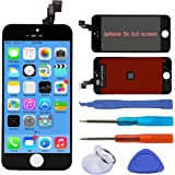 Leyki Touch Screen Replacement 4.0 inches LCD Frame Assembly For iPhone 5C And Full Set Replace Maintenance Tools(Black)