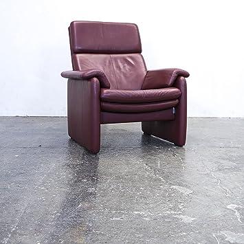 Amazonde Erpo Designer Sessel Leder Bordeaux Rot Einsitzer Relax