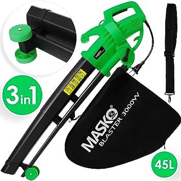 Aspirador de hojas eléctrico de MASKO®, 3 en 1, 3000 W, correa de ...
