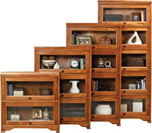 "Eagle Oak Ridge 5 Door Lawyer Bookcase, 32"" Wide, Chocolate Mousse Finish"