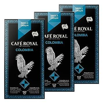 Café Royal Single Origin Colombia, Café, Café, Cápsulas de Café Tostado, compatible con Nespresso, 30 Cápsulas: Amazon.es: Hogar