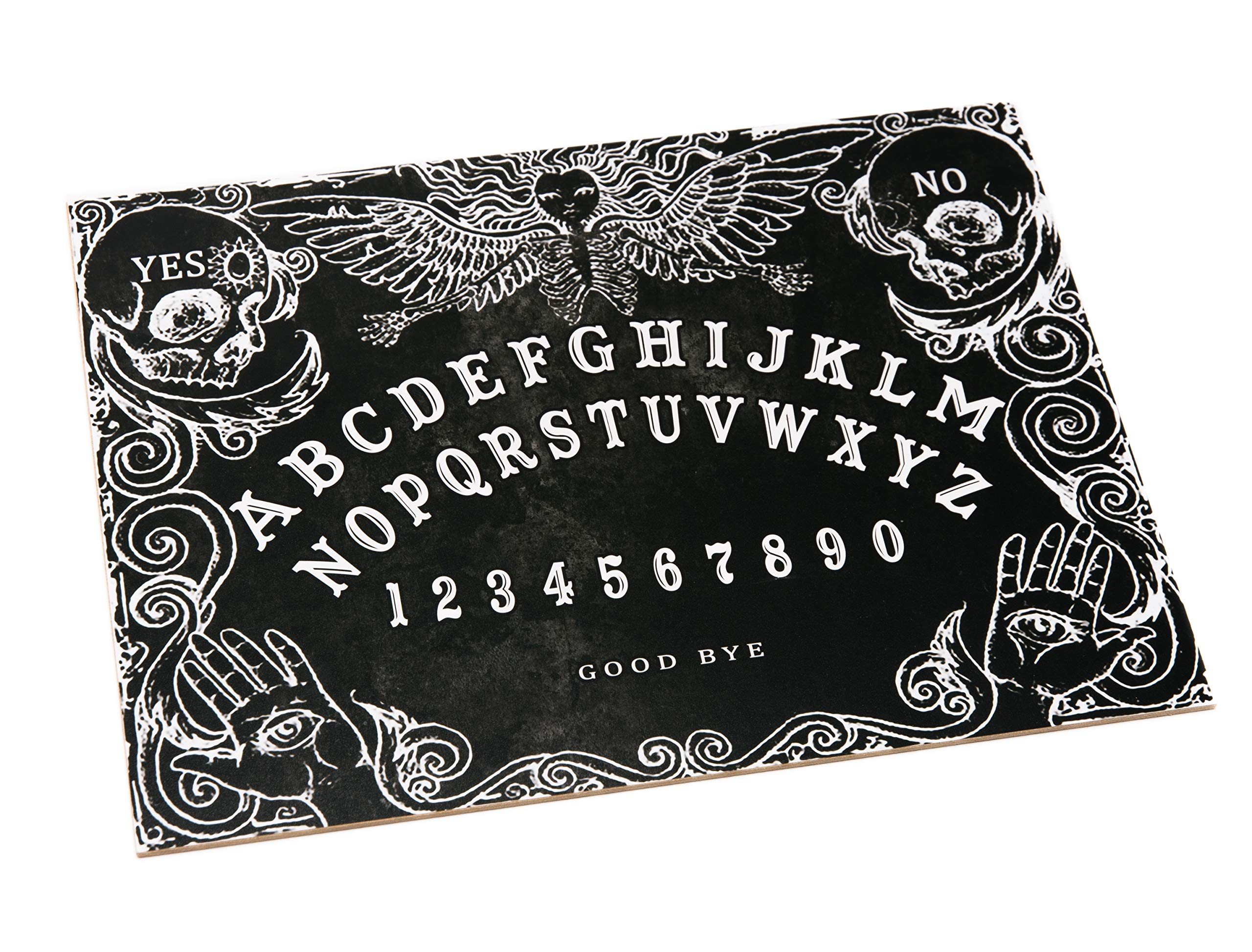 WICCSTAR Black Wooden Ouija Spirit Board game with Planchette and detailed instruction
