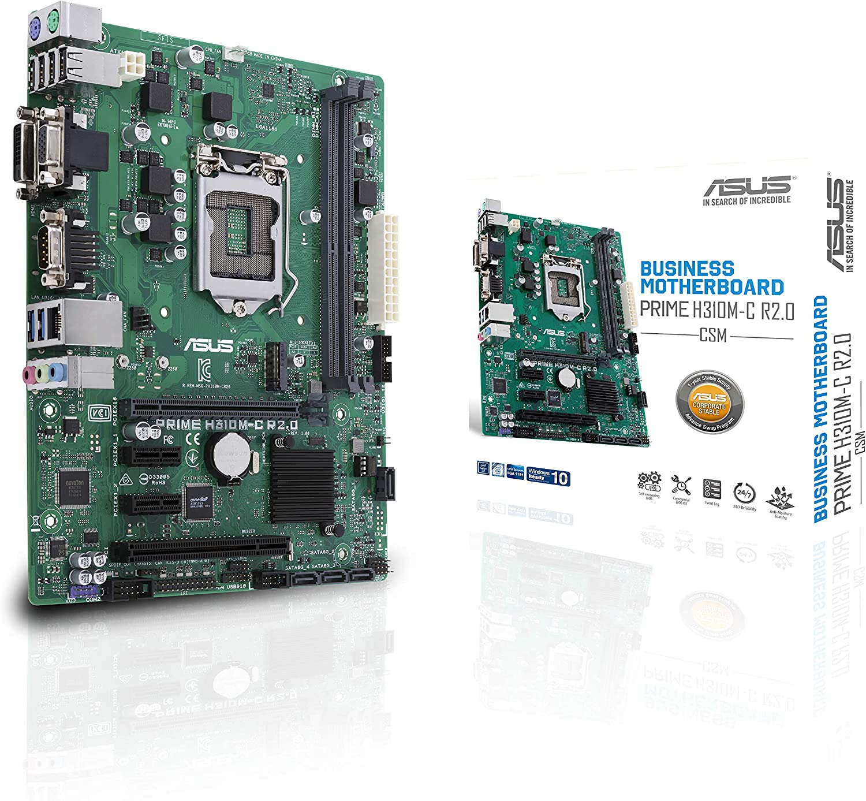 ASUS LGA1151 (300 Series) DDR4 M.2 VGA mATX Motherboard Motherboards Prime H310M-C R2.0/CSM