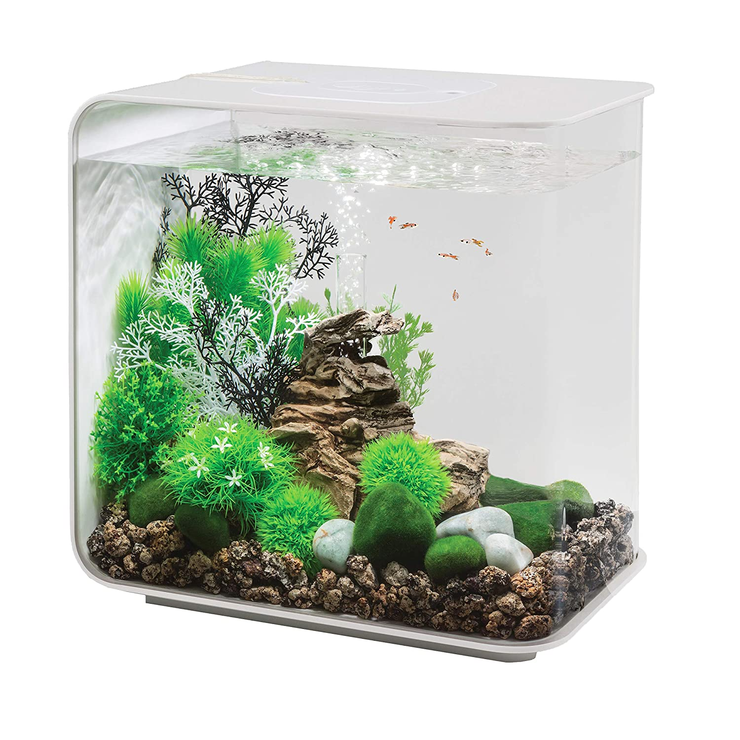 BiOrb FLOW 30 Aquarium with LED Light 8 Gallon, White by biOrb