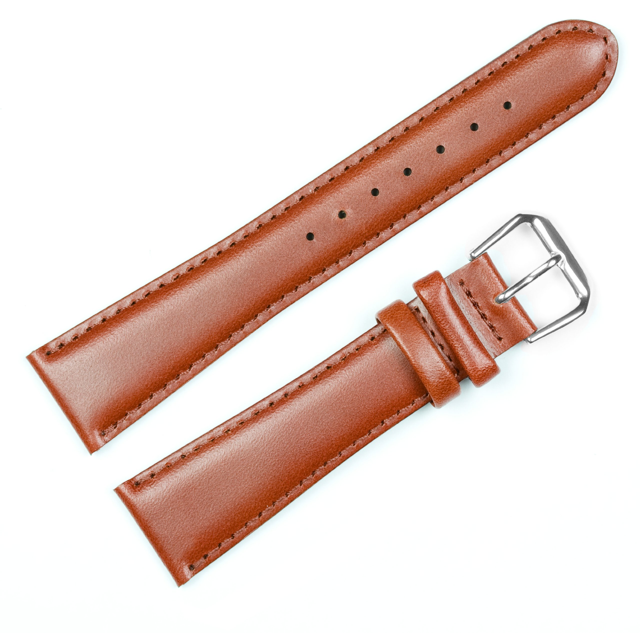 Coach Leather Watchband - Havana 12MM