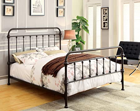 247SHOPATHOME Metal bed, King, Bronze