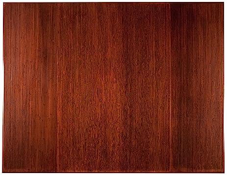 Anji Mountain AMB0500 1009 Trifold Bamboo Chairmat Without Lip For Plush  Carpet, Dark Cherry