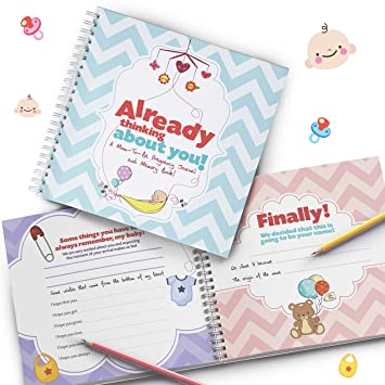 amazon com pregnancy journal and baby memory book for your newborn