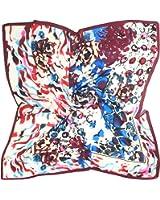 TONY & CANDICE Women's Graphic Print 100% Silk, Silk Scarf Square , 33X33 Inches