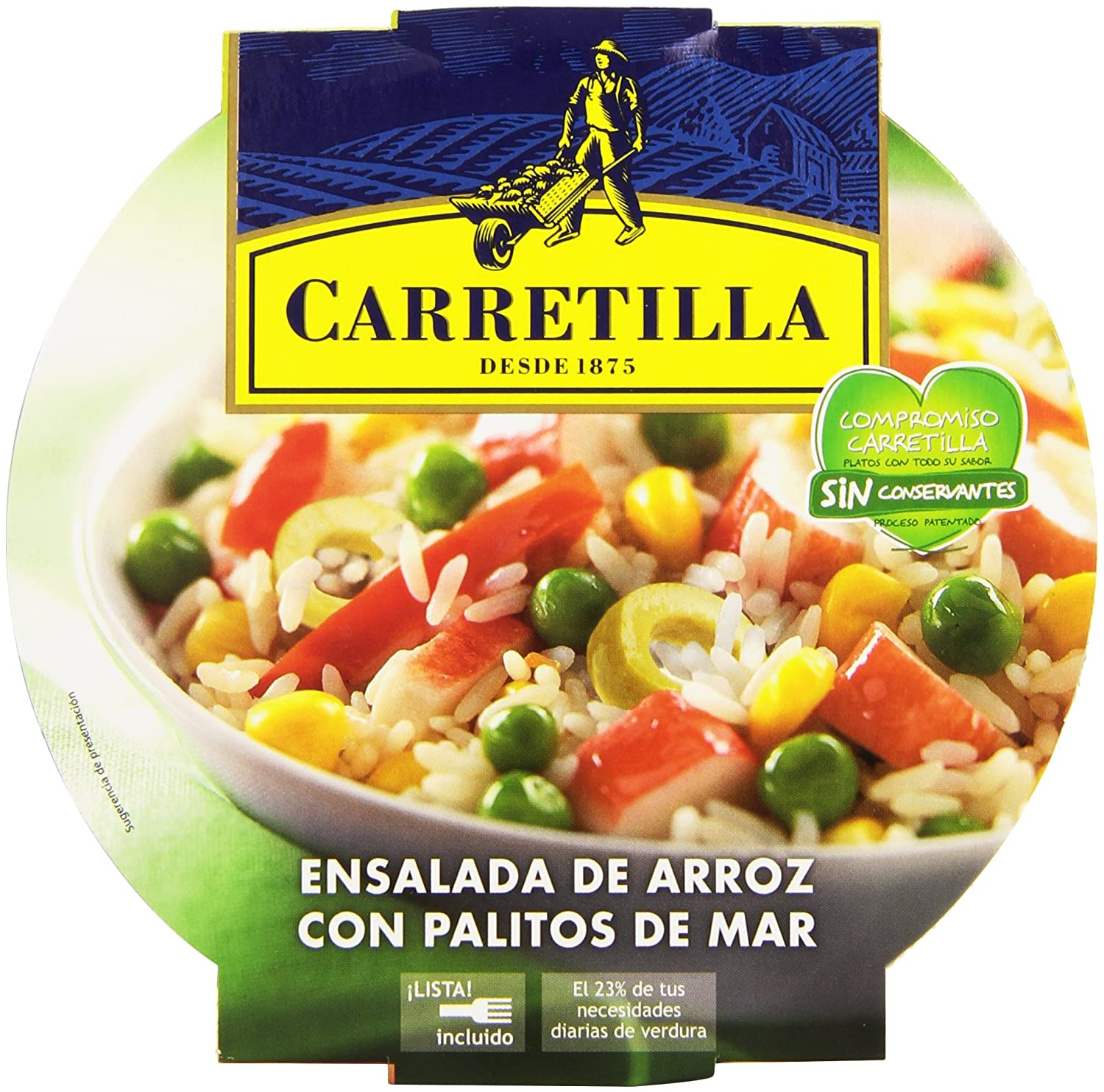 Carretilla Ensalada de Arroz con Palitos de Mar - 240 g: Amazon.es: Amazon Pantry