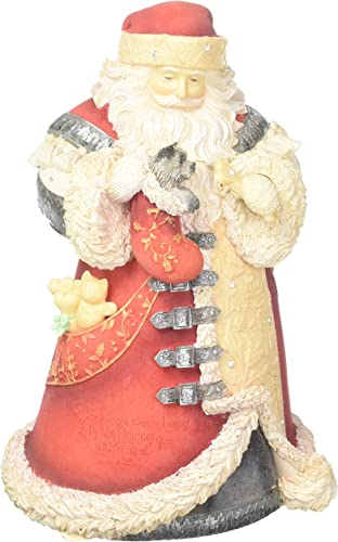 Enesco Heart of Christmas Santa with Puppy in Stocking 4057646 Figurine
