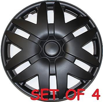"4 Pc Set of 16/"" Matte Black Hub Caps for OEM Steel Wheel Cover Center Cap Covers"