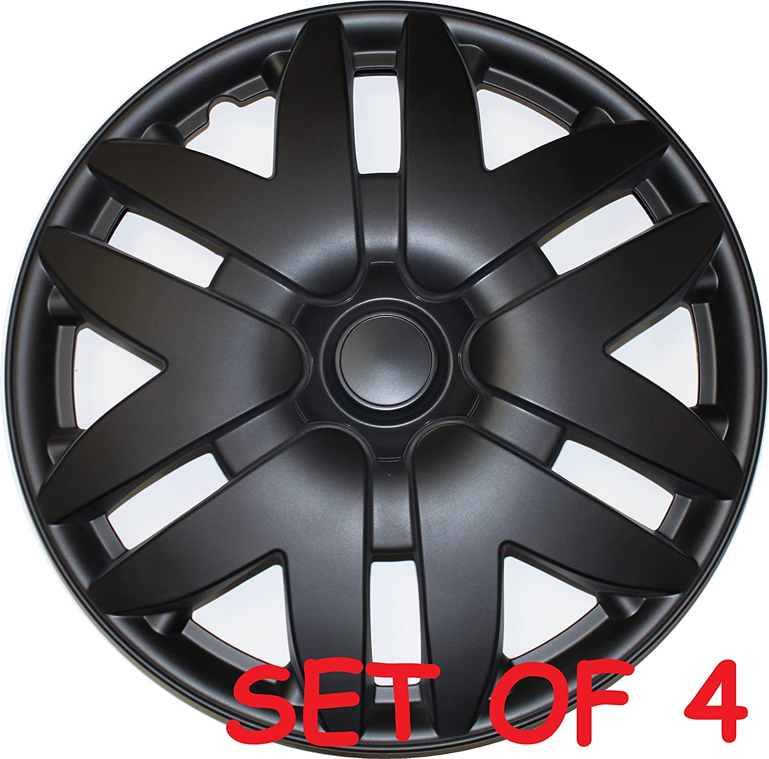 Amazon com new 16 matte black wheel cover for toyota sienna 2004 2005 2006 2007 hubcap hub cap universal fit 4 automotive