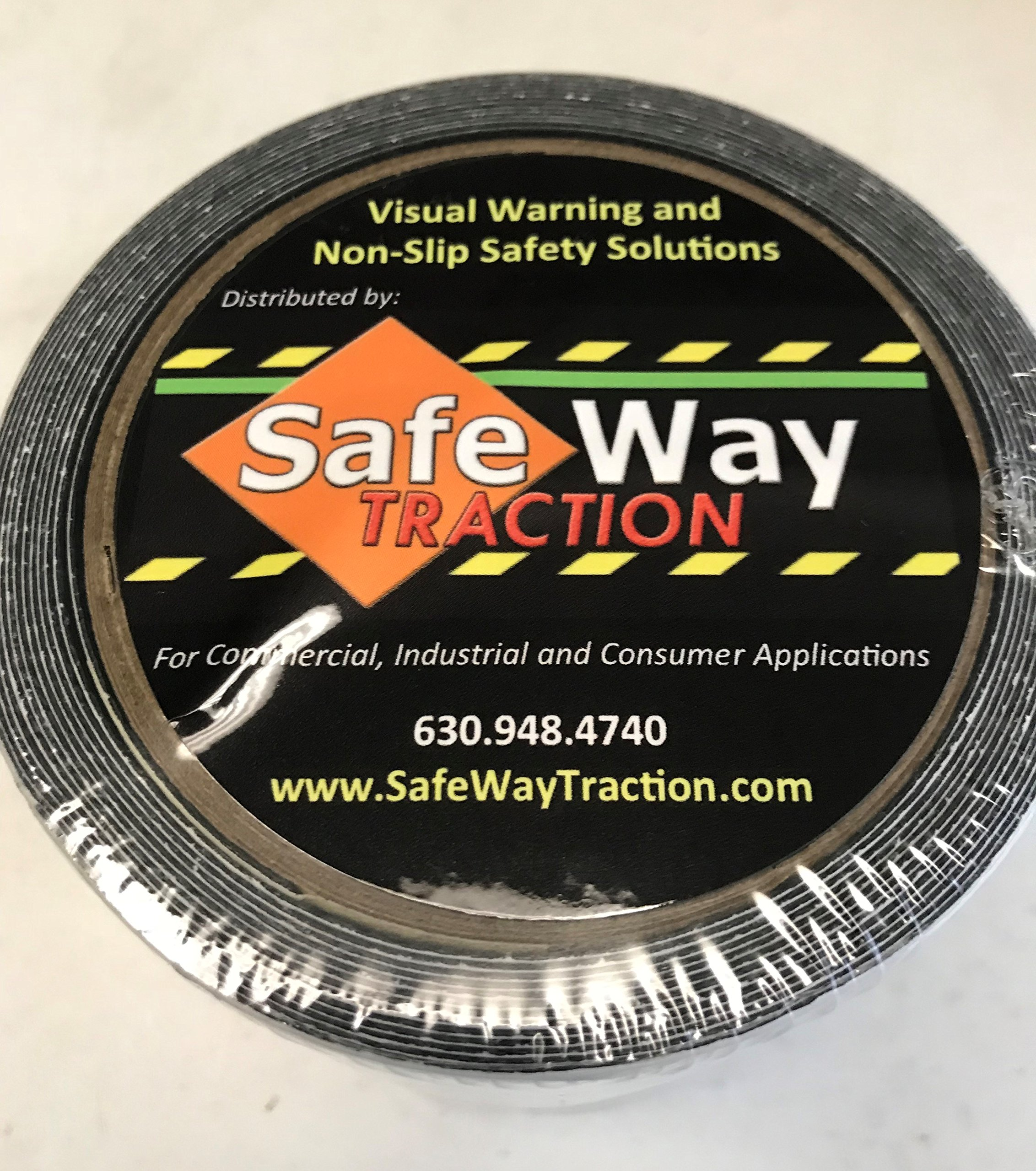 Safe Way Traction 4'' X 12' Foot Roll of Black Rubberized Anti Slip Non Skid Safety Tape 3510-4-12