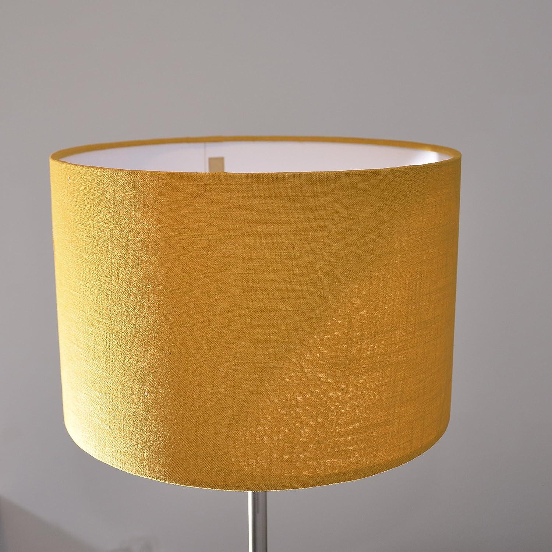 Lampenschirm handgemacht 30 cm Durchmesser aus Leinen //Ocker