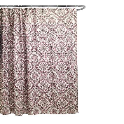 Amazon Fabric Canvas Shower Curtain 70x70 Rose Burgundy