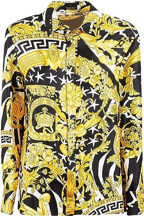 Versace A82662A231030A7900 - Camisa para Mujer (Seda Dorada) Dorado Dorado Talla de Marca 38 IT: Amazon.es: Ropa y accesorios