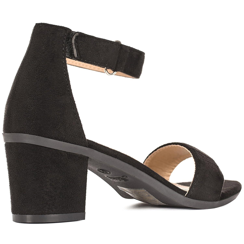 1a89ebad82d Solemate Women's Ankle Strap Kitten Heel Sandal – Comfortable Cute Low  Block Heeled Sandals – Sophia