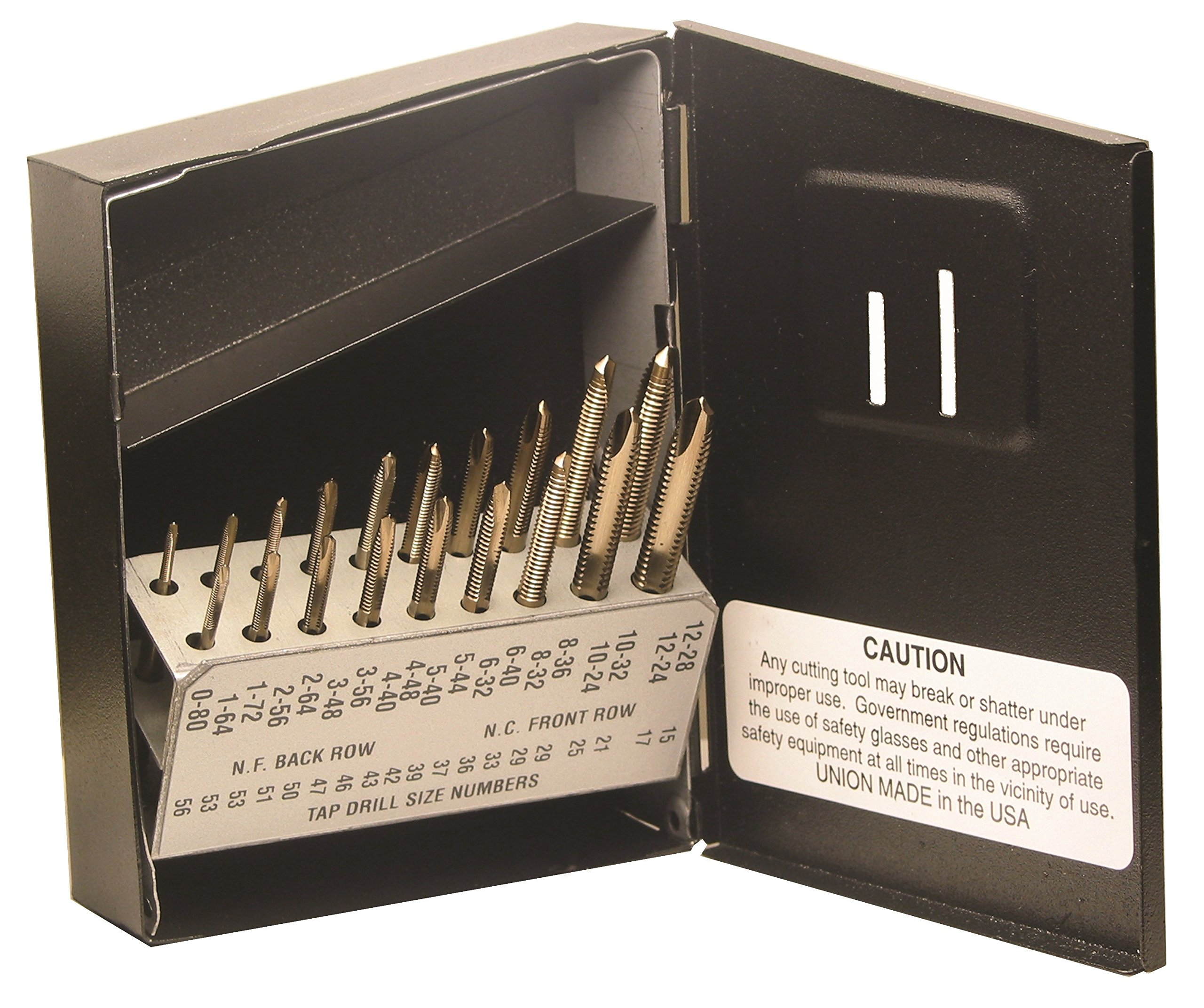 Viking Drill and Tool 61600 SP-19T Type 20-UB Spiral Point Plug Style Magnum Super Premium Tap Set