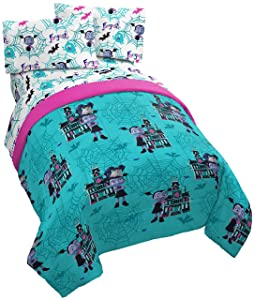 Jay Franco Disney Vampirina 4 Piece Twin Bed Set - Includes Reversible Comforter & Sheet Set - Super Soft Fade Resistant Polyester - (Official Disney Product)