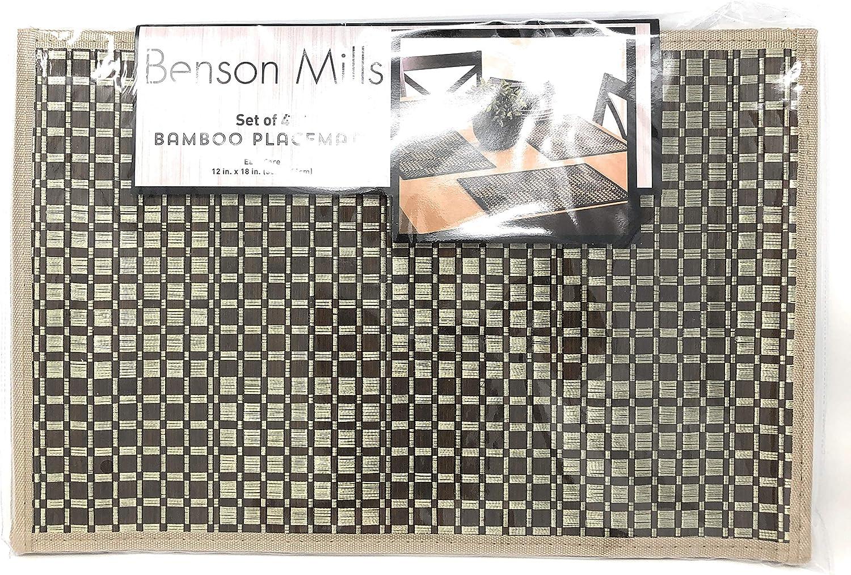 Black Benson Mills Caribbean Bamboo Placemat Set of 4