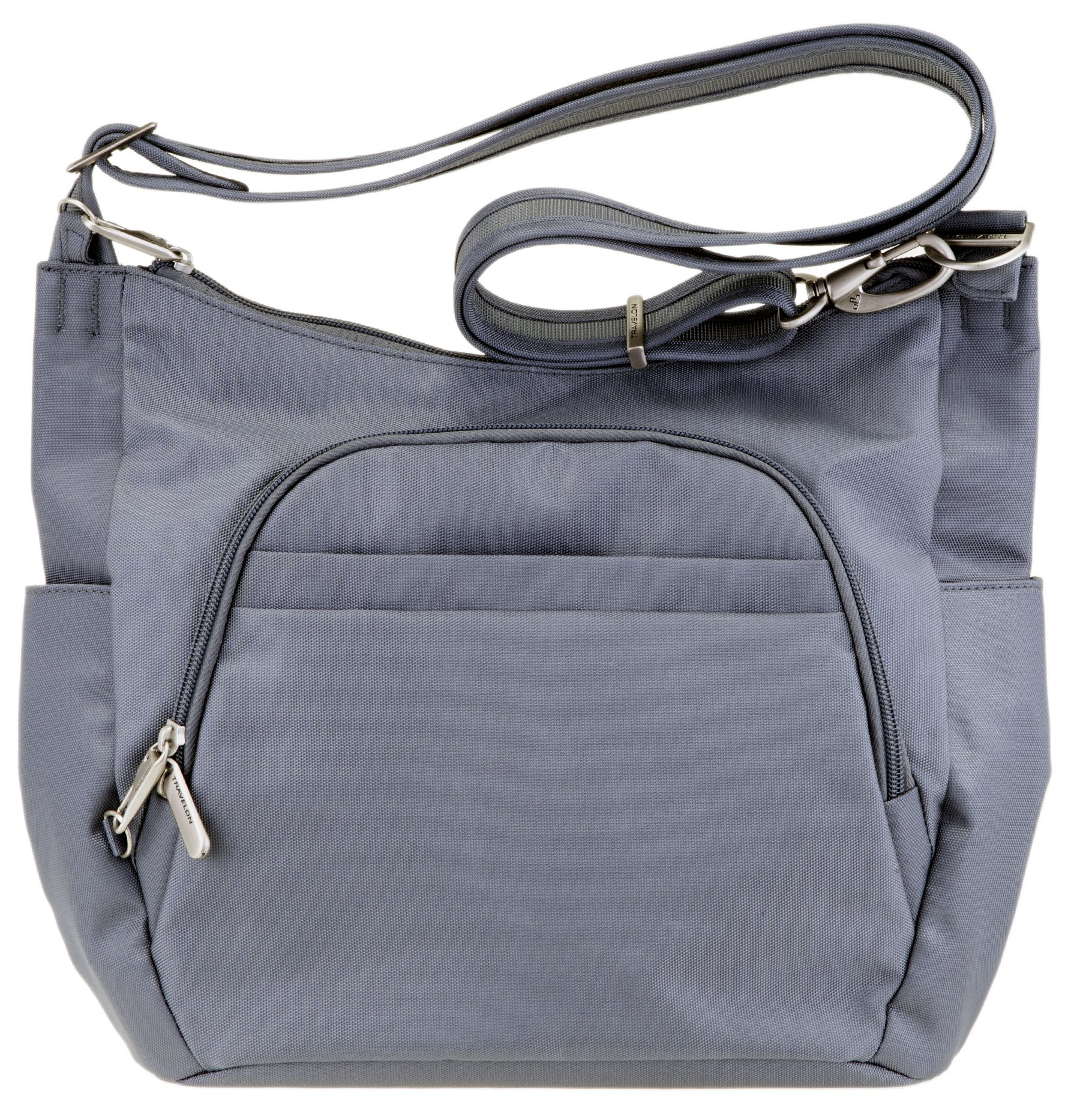 Travelon Anti-Theft Cross-Body Bucket Bag (Pewter)