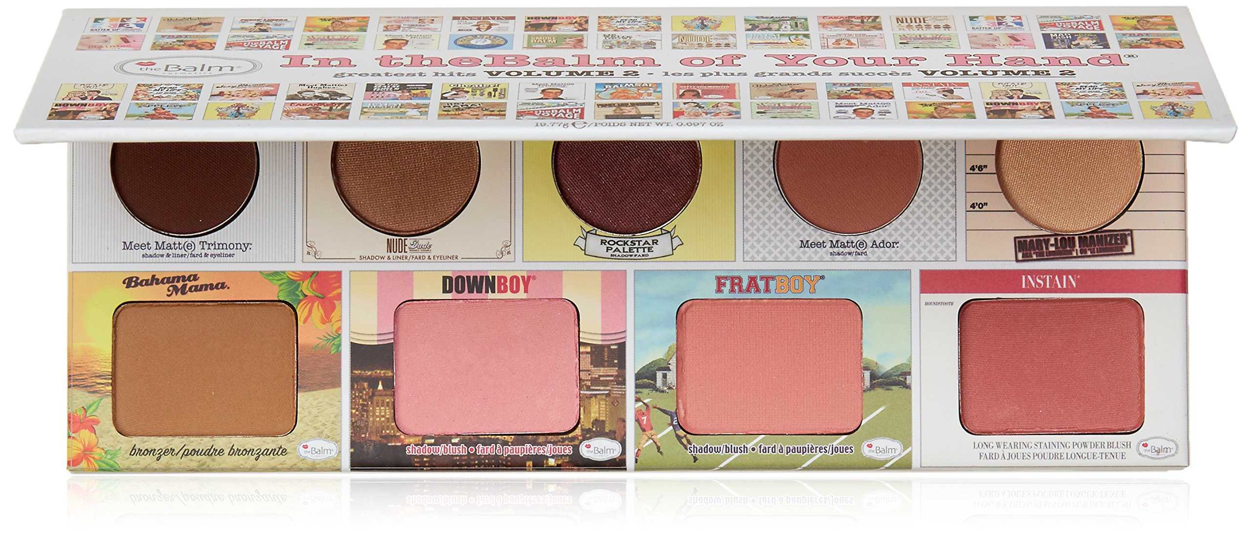 of Your Hand Greatest Hits Vol. 2 Face Palette, 4 Blendable Eyeshadows, 3 Blush Colors, Matte Bronzer, Champagne-Hued Highlighter