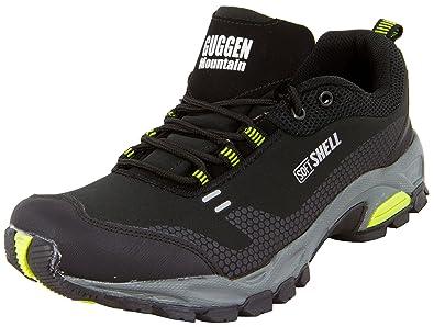 GUGGEN Mountain Frauen Trekkingschuhe Damen Wanderschuhe Walkingschuhe Outdoorschuhe Outdoor Schuhe Softshell T002, Farbe Orange, EU 36