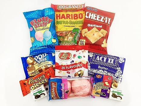 Gran surtido de Caramelos Americanas para Películas | Pack de ...