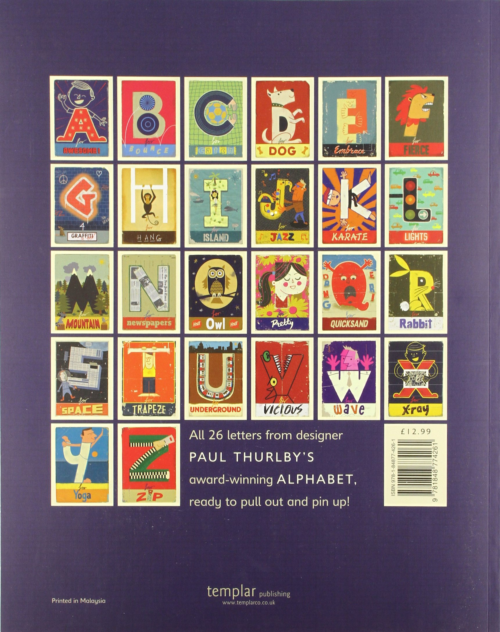 Paul Thurlbys Alphabet Poster Book Thurlby 9781848774261 Amazon Books