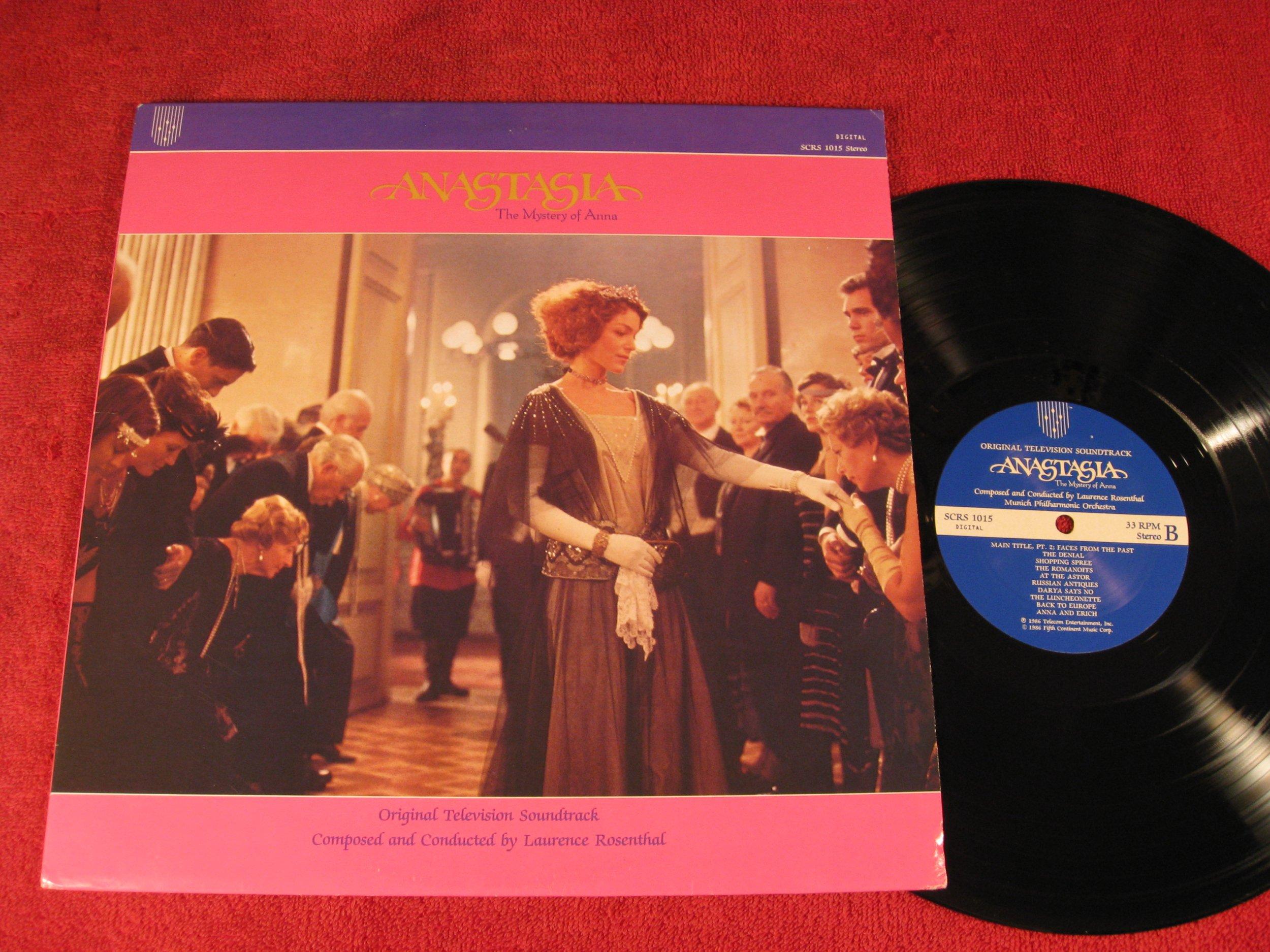 Anastasia; El misterio de Anna; Banda sonora de televisión original; 1986 Vinyl LP