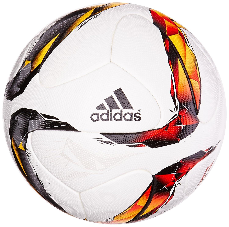 adidas Men's Dfl Omb Balls White RedBlack OrangeSolar GoldSilver Metallic, Size 5