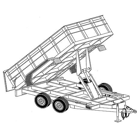Amazon hydraulic dump trailer blueprints 12 x 64 model hydraulic dump trailer blueprints 12 x 64quot malvernweather Images