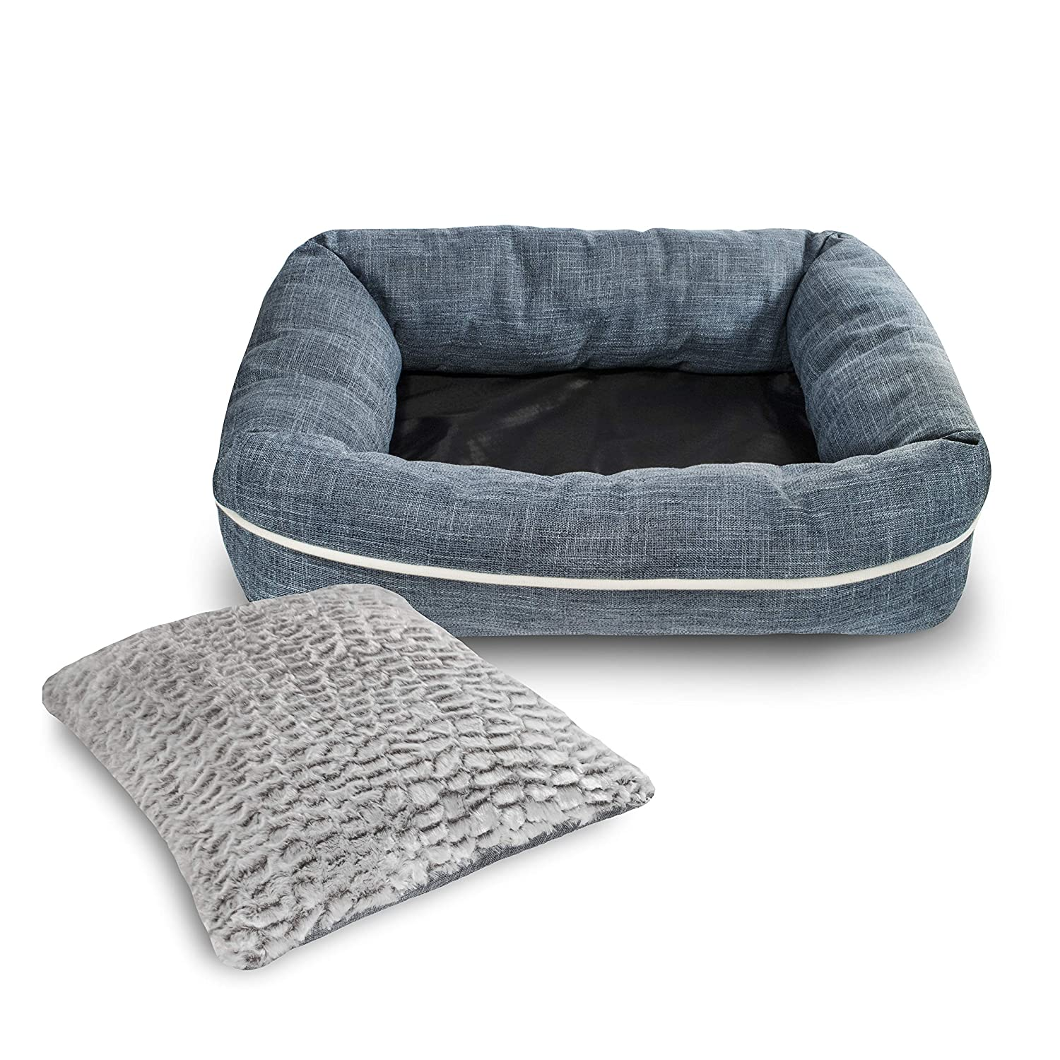 bluee PoundWishes PW702 Cozy Dog Bed, bluee