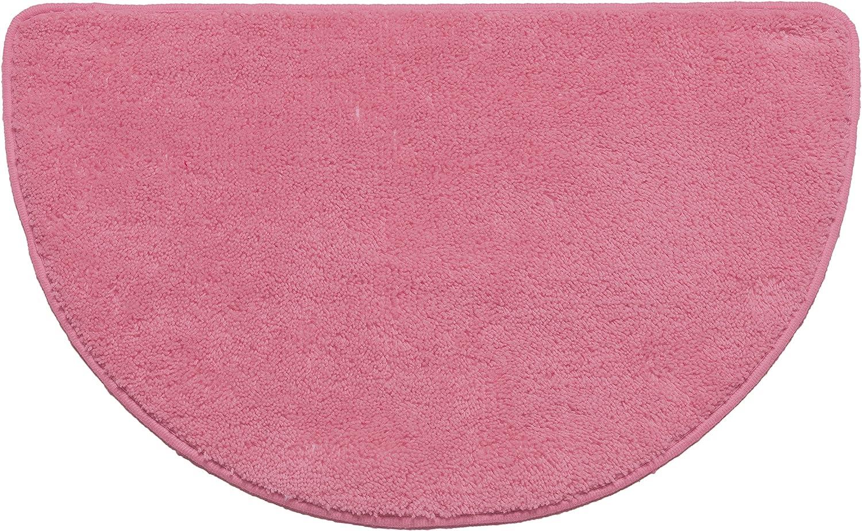 "Kashi Home Hailey Collection Slice Style Decorative Bathroom Rug, 18"" x 30"", Rose"