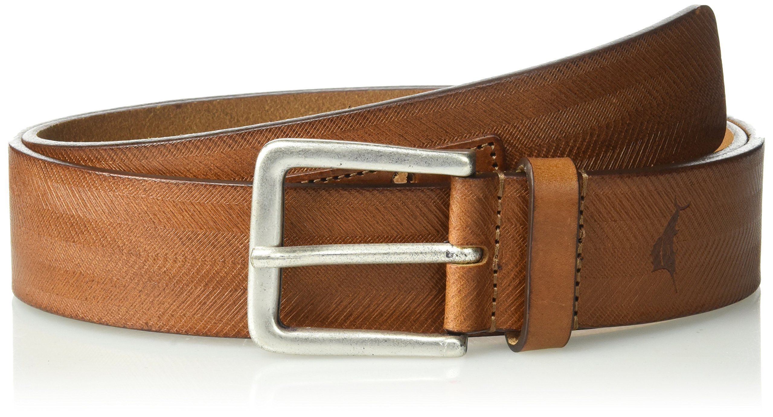 Tommy Bahama Men's 1.5 in. Genuine Italian Leather Belt With Allover Laser Detail, tan, 40