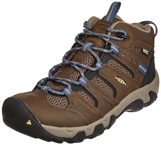 KEEN Men's Koven Mid Waterproof Hiking Boot, Cascade Brown/Ensign Blue, ...