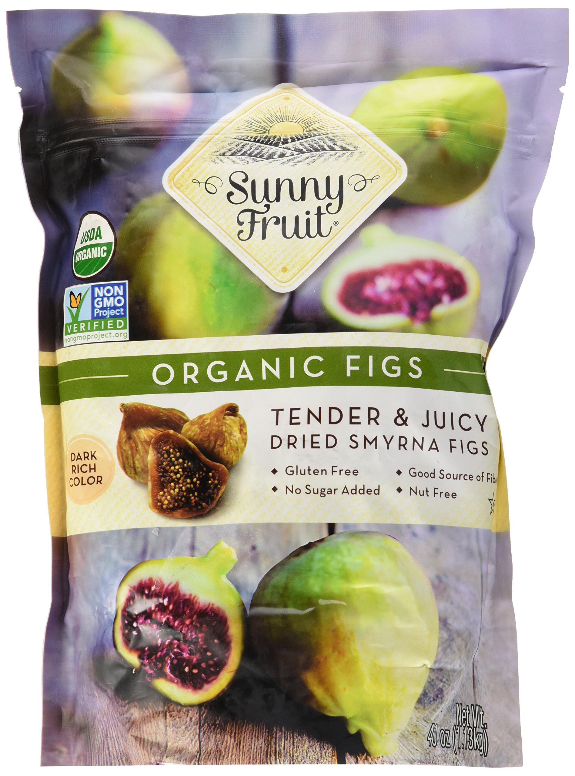 ORGANIC FIGS USDA ORGANIC SUNNY FRUIT 40 OUNCE BAG