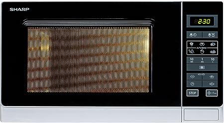 Sharp R-342(IN) W Microondas 25L, Control Tactíl, 900W, 900 W, 25 ...