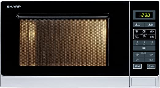Sharp R-342INW Micro-ondes Solo 25 litres - Argent